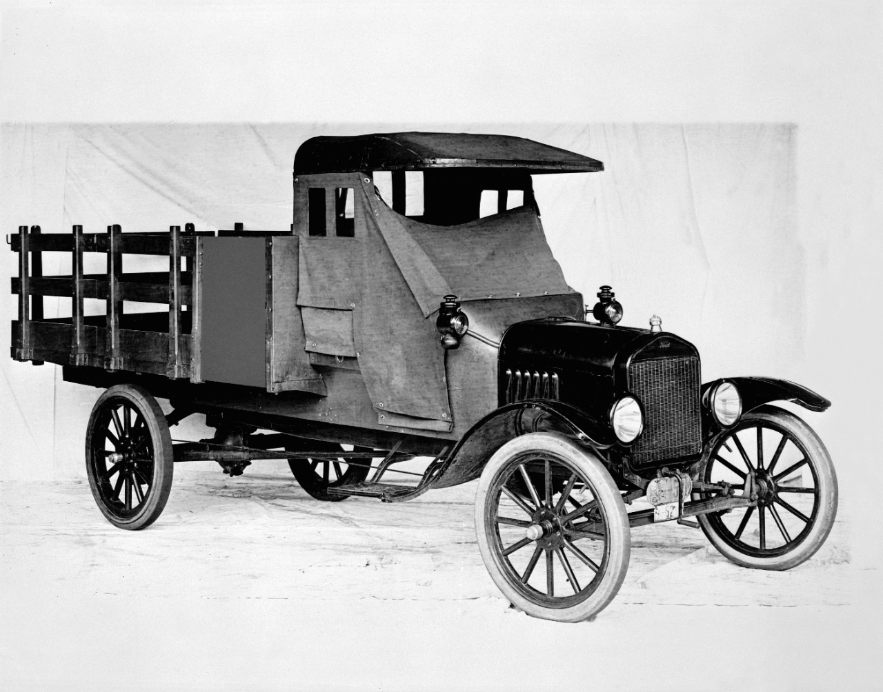 1918 Ford Model TT with stake bed