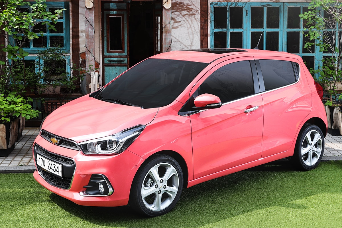 2018 chevrolet paint colors. delighful chevrolet holy crap check out the coral pink paint on koreau0027s 2018 chevy spark  the  news wheel to chevrolet paint colors v