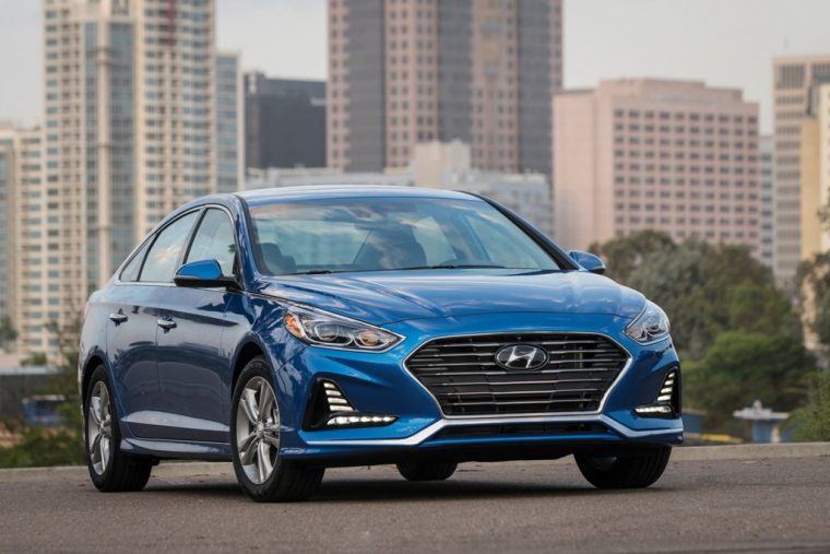 2018 Hyundai Sonata Sedan model overview car specs information front grille