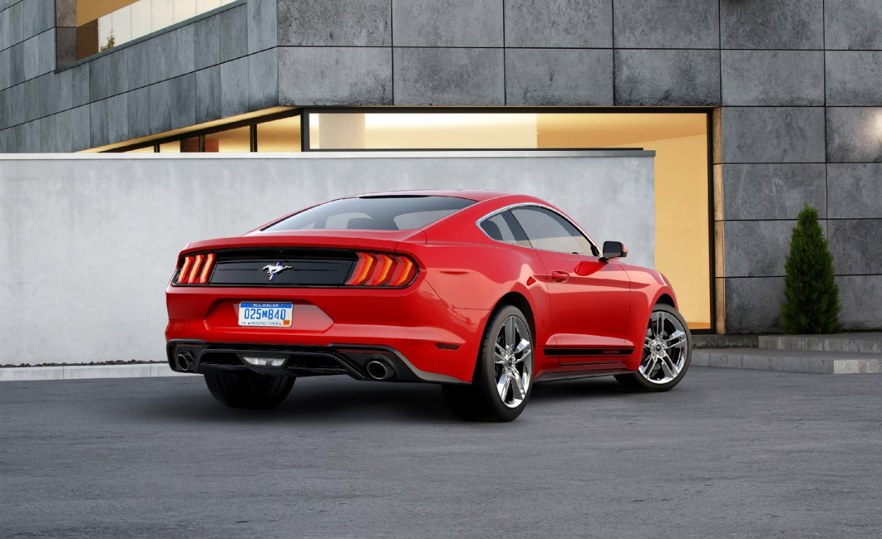 2018 ford mustang ecoboost gets shiny with pony package the news wheel