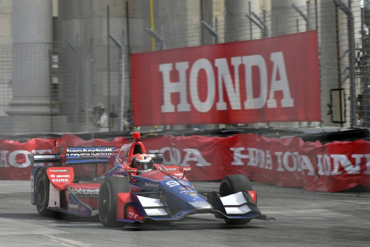 Alexander Rossi led the way for Honda Sunday at the Honda Indy Toronto, finishing second in the Verizon IndyCar Series race on the Exhibition Place temporary street circuit.