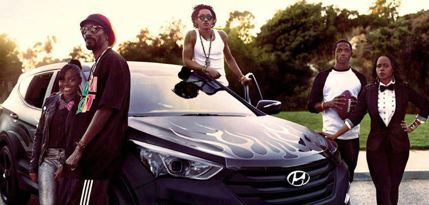Celebrities who drive hyundai cars Snoop Lion