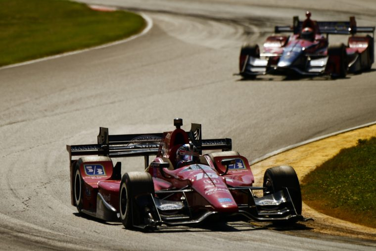 Graham Rahal finished third Sunday in the Honda Indy 200 at the Mid-Ohio Sports Car Course.