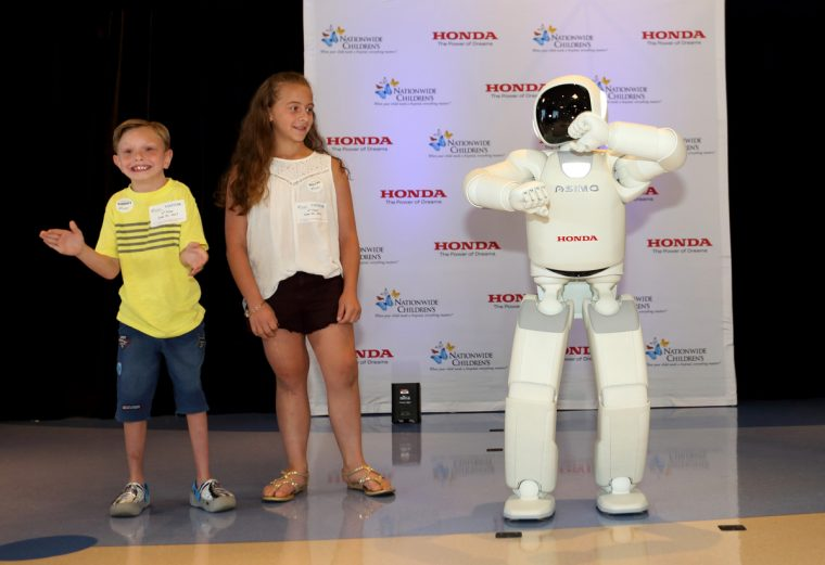 ASIMO with patients from Nationwide Children's Hospital in Columbus, Ohio