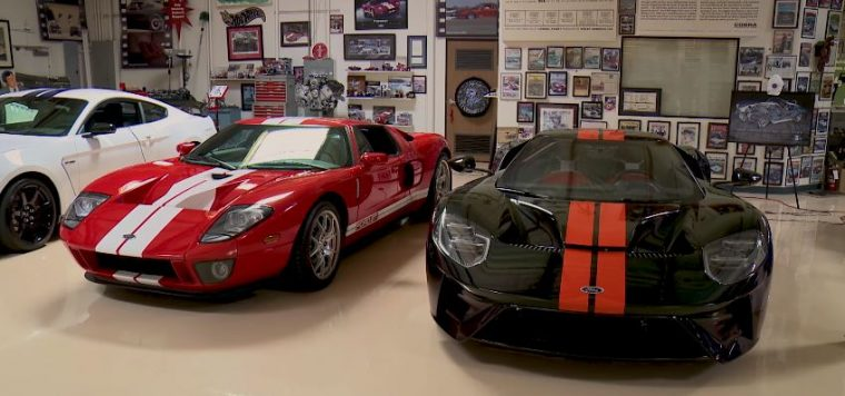 Jay Leno 2005 Ford GT and 2017 Ford GT
