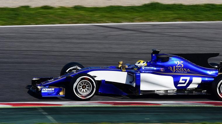 Marcus Ericsson in the Sauber C36