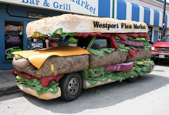 Westport Flea Market Burger Truck