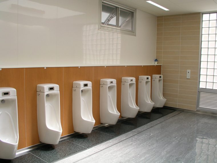 highway rest stop area public restroom toilets clean