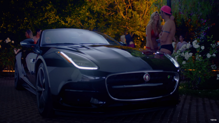 Demi Lovato Jaguar F-TYPE Sorry Not Sorry