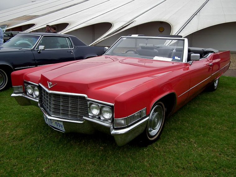 1969 Cadillac Deville Convertible Red