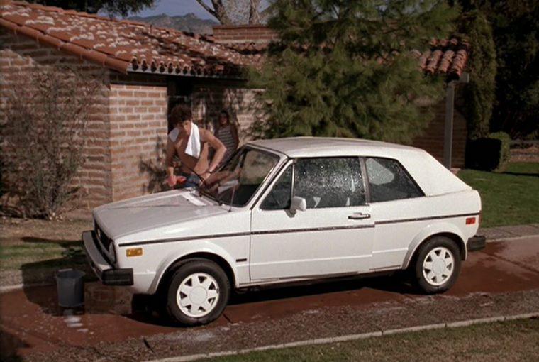 1986 Volkswagen Cabriolet white