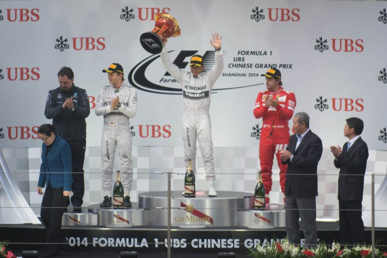 2014 Shanghai Grand Prix Podium