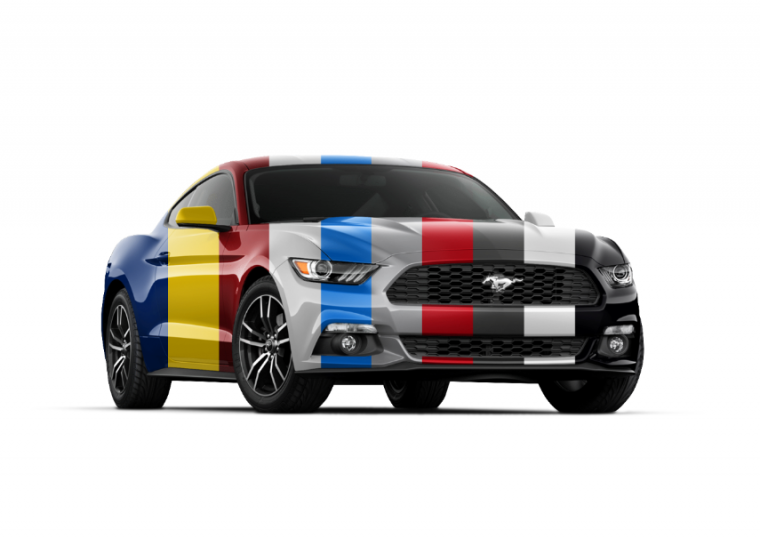 Ford Mustang Colors