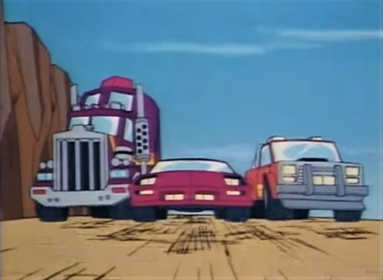 M.A.S.K. animated television show cartoon cars military DIC Kenner toys transforming vehicles clip