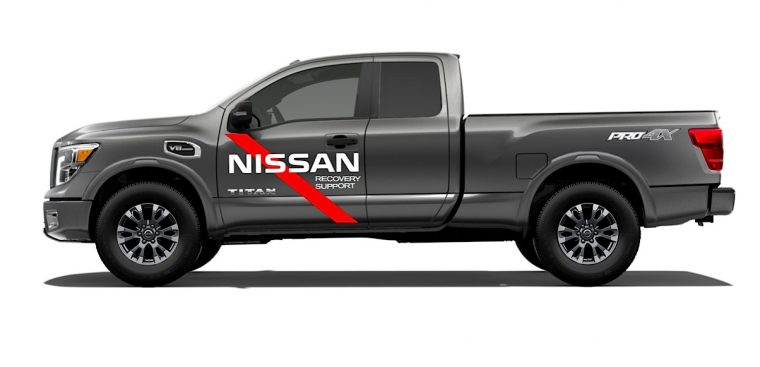 Hurricane Harvey Relief Nissan Titan