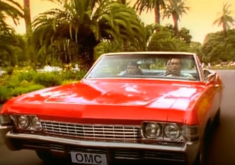 OMC How Bizarre 1968 Red Chevrolet Impala Convertible