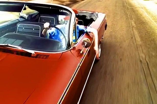 The Offspring Pretty Fly for a White Guy 1963 Red Chevrolet Impala Convertible