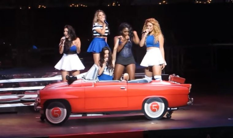 Fifth Harmony Top Down Angel Music Video Convertible