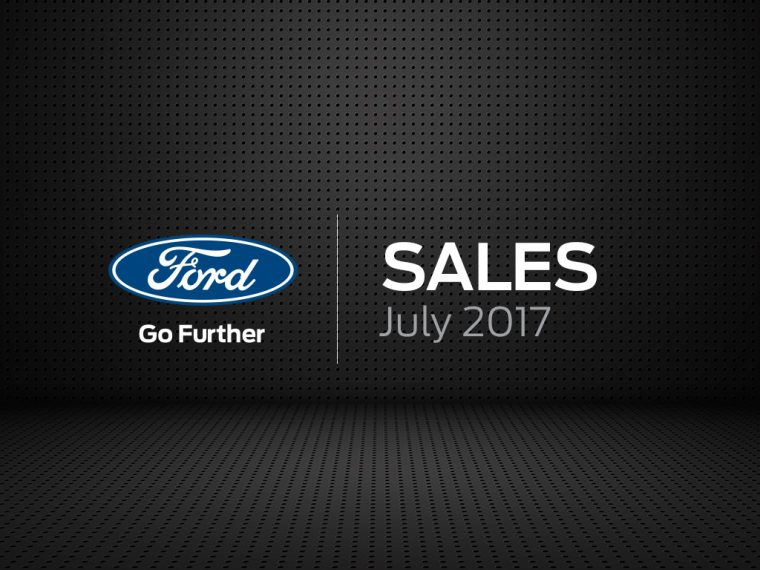 Ford sales results July 2017