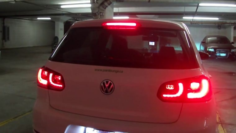 VW GOLF R MK6 MKVI Tail light design