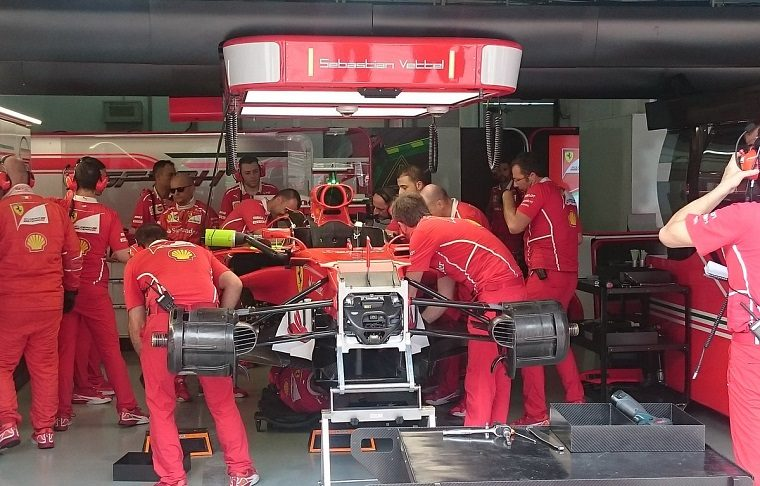 Vettel Engine Change