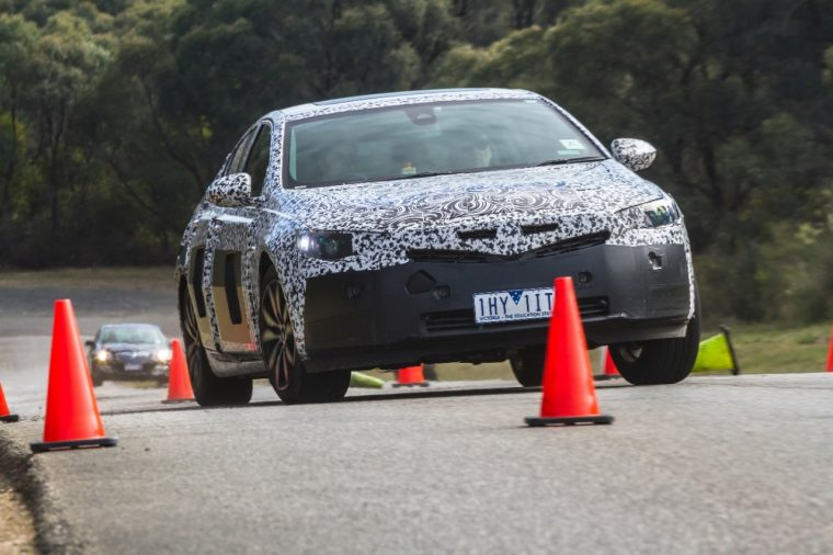 2018 Holden Commodore testing