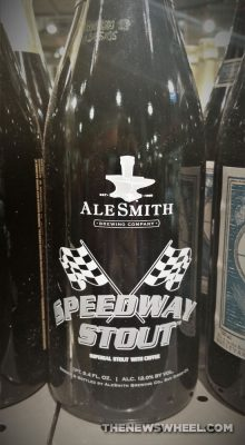 Ale Smith Speedway Stout car themed beers