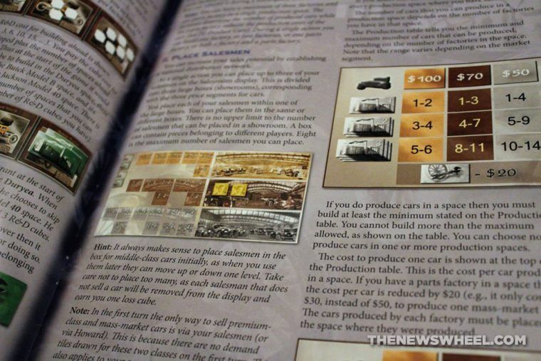Automobile Wheels to Wealth Martin Wallace board game Mayfair manufacturing industry business strategy review directions instructions