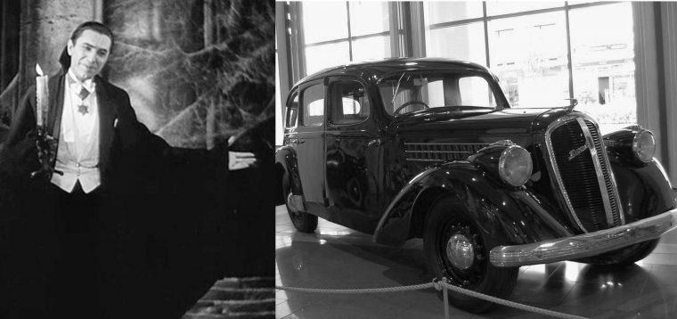 Classic monster movie character vehicle car Dracula Halloween film
