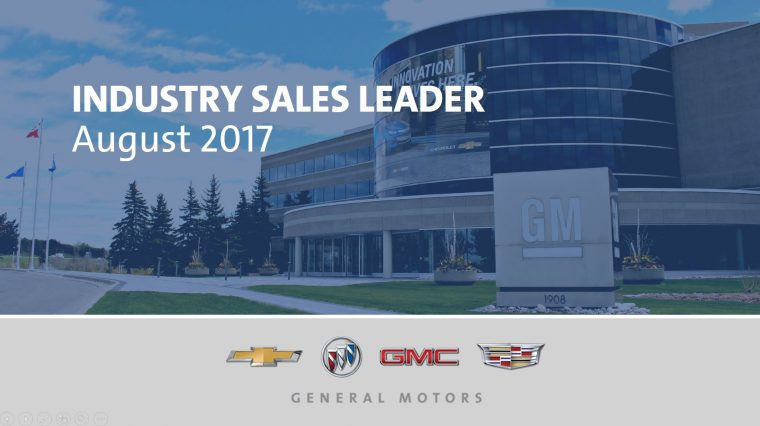 General Motors Industry Leader Sales Results August 2017