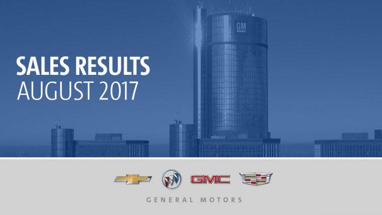 General Motors Sales Results August 2017