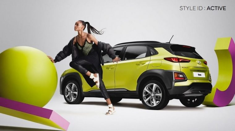 Hyundai Kona SUV ELLE photo shoot style color