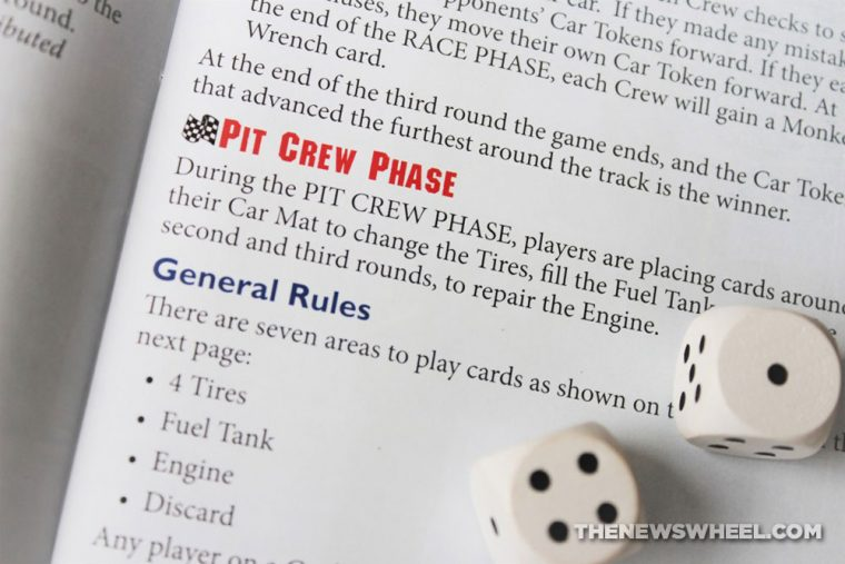 Pit Crew car racing board game Geoff Engelstein Stronghold review 2017 automotive cards review instructions directions