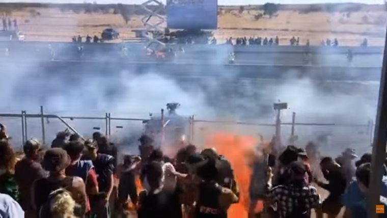 Burning Fuel Sprays on Crowd