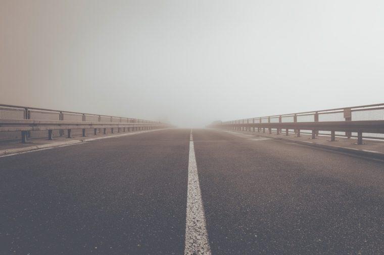 Single White Road Line