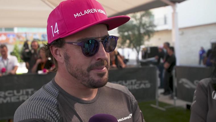 Fernando Alonso being interviewed