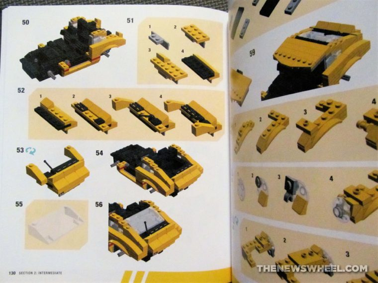 How to Build Brick Cars Motorbooks LEGO building book Peter Blackert review pages