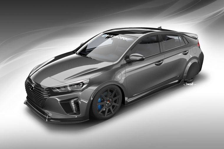 Hyundai HyperEconiq Ioniq Concept car at the 2017 SEMA Show in Las Vegas