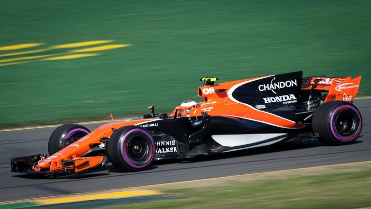 Stoffel Vandoorne in 2017 McLaren Honda