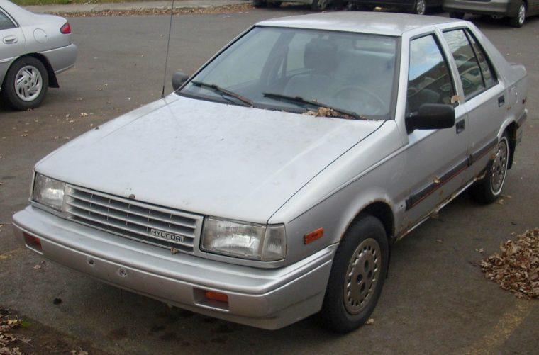 1988 1989 Hyundai Excel Sedan model history