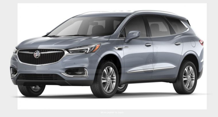 2018 Buick Enclave grey silver body color paint