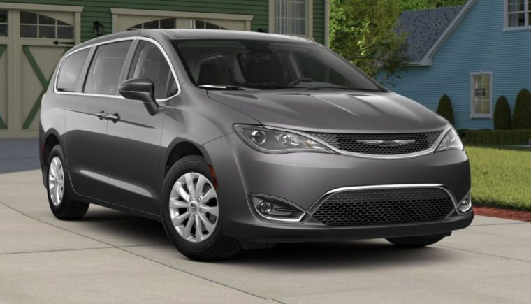 2018 Chrysler Pacifica Van Grey Silver Body Color Paint