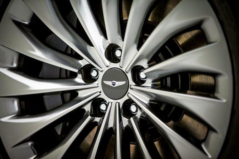 2018 Genesis G90 luxury sedan overview details trim features wheel tire