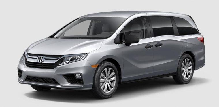 2018 Honda Odyssey van silver grey body color paint