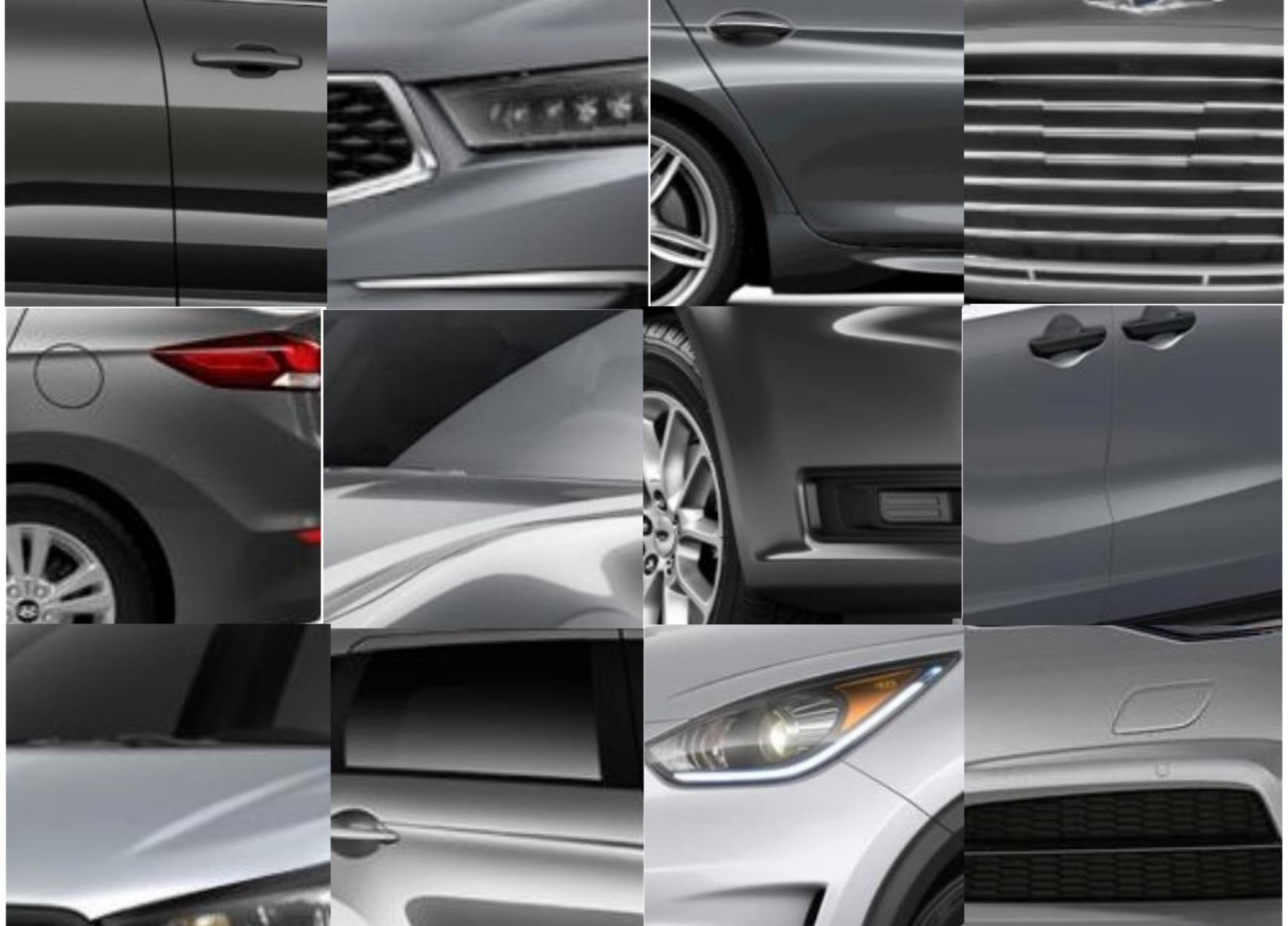 Shades Of Grey Cars Silver Gray Metallic Body Color Vehicles