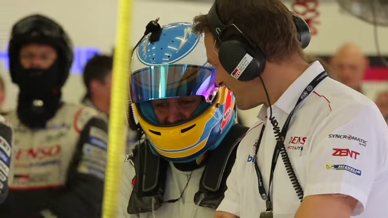 Alonso at WEC Bahrain Rookie Test