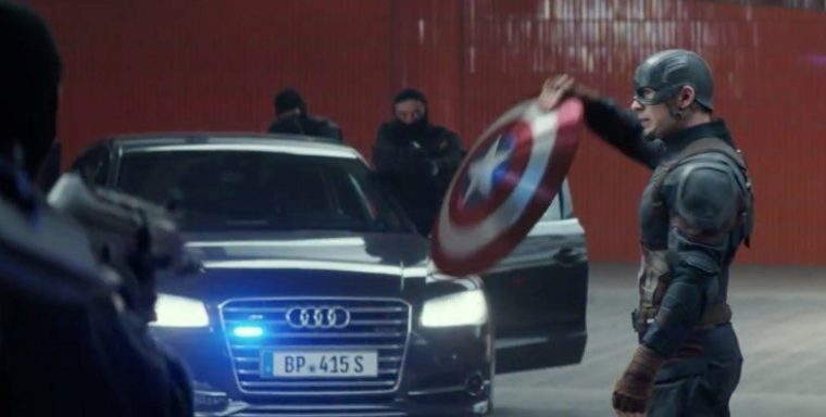 Marvel Captain America Civil War car automobile brand sponsor Audi Q7 movie