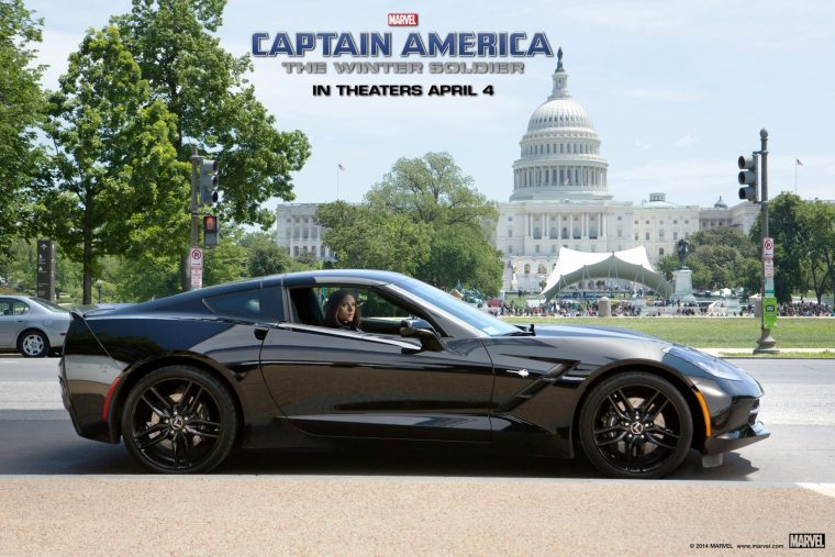 Marvel Captain America Winter Soldier Automobile car vehicle sponsor Chevrolet Corvette Stingray Chevy