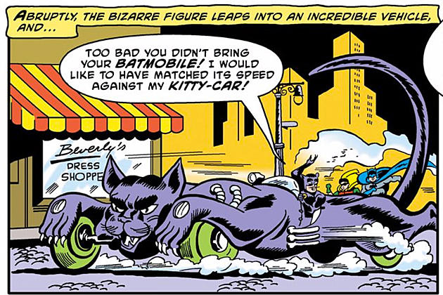 Cat King Kitty Car Catmobile Batman comics car vehicle villain
