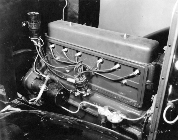 Introduced in 1929, Chevrolet's 194-cubic-inch (3.2L) overhead-valve inline six-cylinder engine was nicknamed the Stovebolt Six, which became synonymous with its durability.